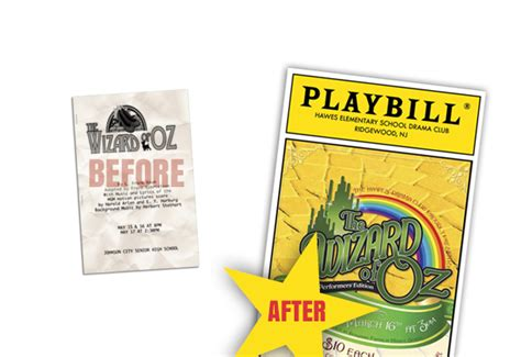 Playbillder Create Your Own Playbill For Your School Or Amateur Stage Production Free School Play Program Template