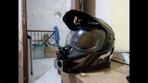 Helm Mds Superpro 13 setup actioncam di helm mds superpro motovlog