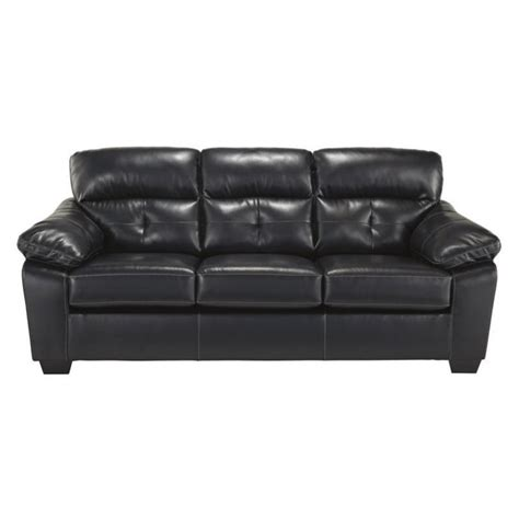 bastrop leather size sleeper sofa in midnight