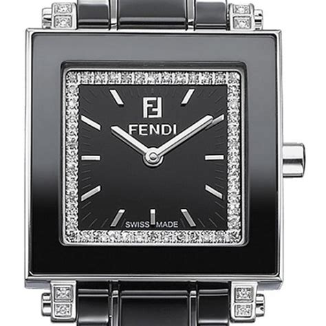 fendi black ceramic square womens f621210ddc