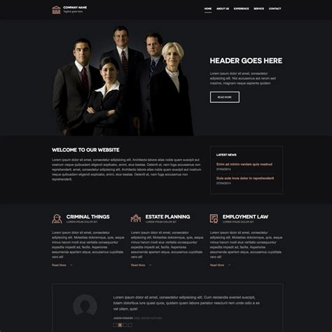 Free Law Firm Responsive Website Template Firm Responsive Website Template