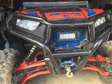 Emp Polaris Rzr Grill With Led Light Bar 187 Bad Rzr Led Light Bar