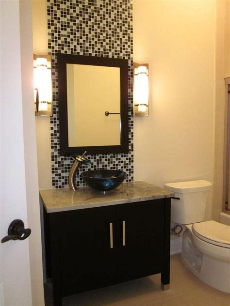 tile accent wall in bathroom bathroom vanity mirror wall accent feature mosaic tiles