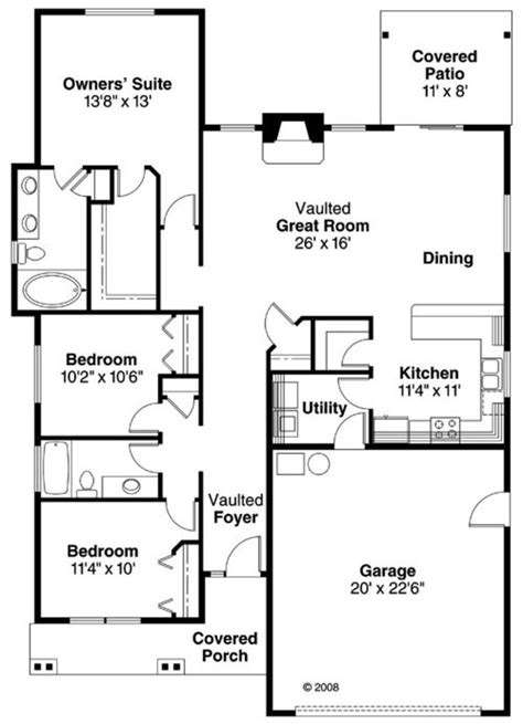 home design appealing 20x30 house designs 20x30 house craftsman style house plan 3 beds 2 baths 1610 sq ft