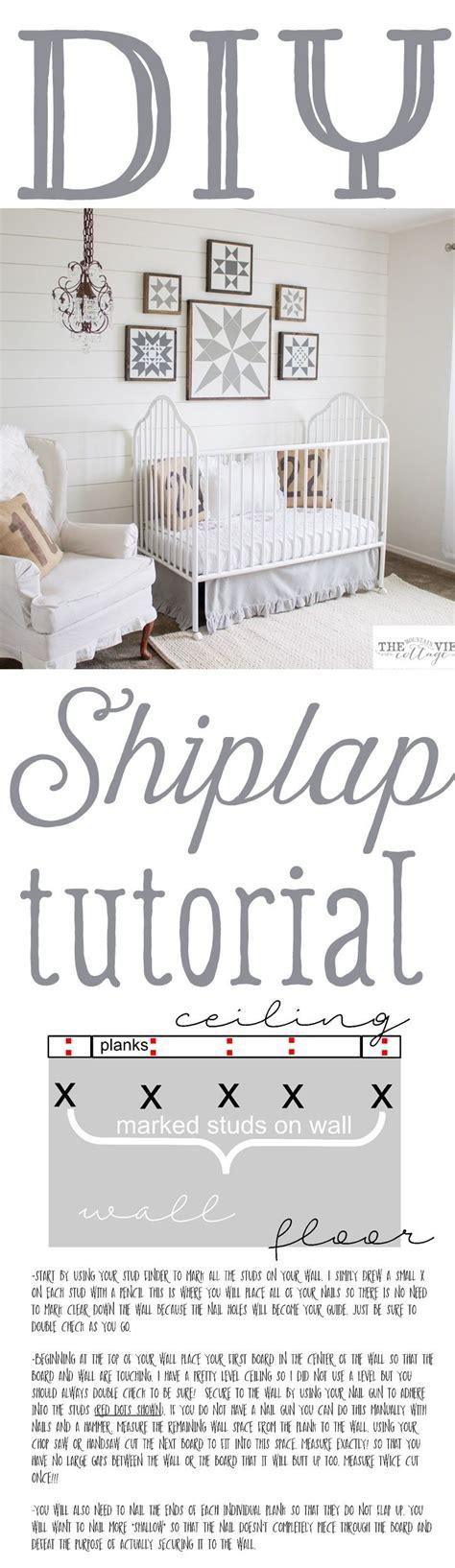 shiplap tutorial shiplap plank wall tutorial kitsch casas bonitas y