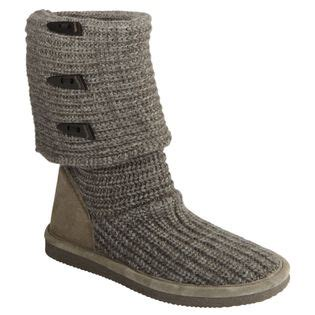 bearpaw knit boots grey bearpaw s grey knit boot warmth and fashion at sears