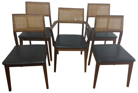 Hibriten Furniture by Hibriten Walnut Back Dining Chairs Set Of 5 Chairish