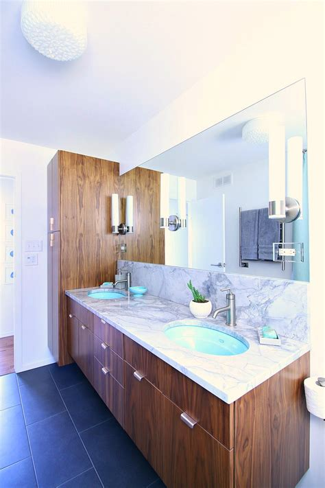 mid century modern sink vanity beautiful mid century modern bathroom vanity home ideas