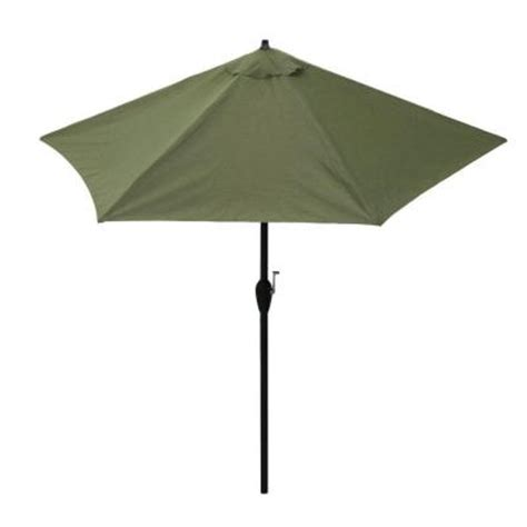 9 Ft Aluminum Patio Umbrella In Moss 9900 01408200 The Home Depot Patio Umbrellas