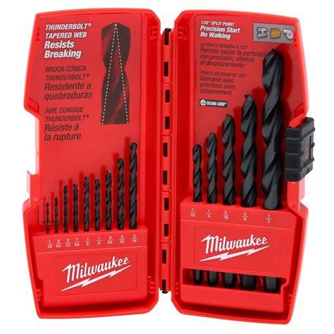 milwaukee titanium shockwave drill bit kit 15 48