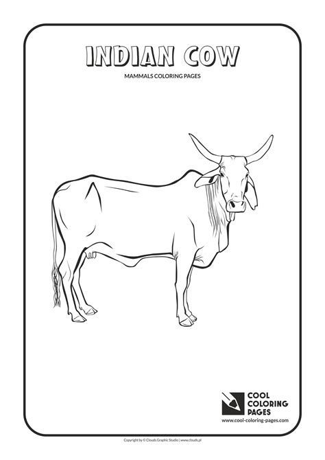 india animals coloring pages indian cow coloring page cool coloring pages
