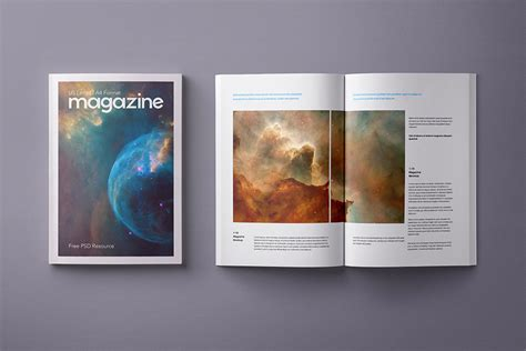 ideas mag free version free a4 magazine mockup psd good mockups