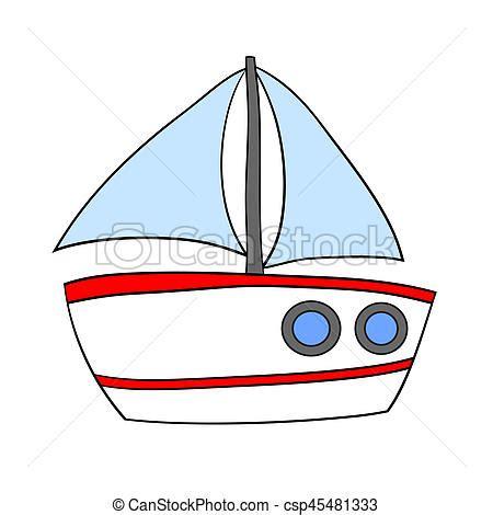 imagenes de barcos en caricatura vela aislado barco caricatura barco vela aislado