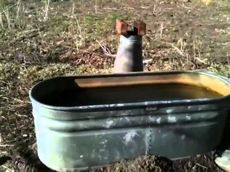 rocket stove bathtub off the grid rocket stove hot tub finished and on fire