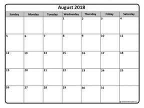 Calendar 2018 Printable Monthly August 2018 Calendar August 2018 Calendar Printable