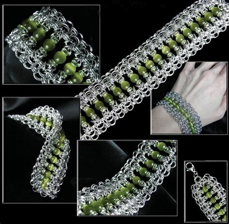 beaded chainmaille jewelry patterns beaded byzantine variant bracelets and anklets