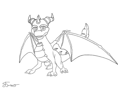 Spyro Lineart By Krovash On Deviantart Spyro Coloring Pages