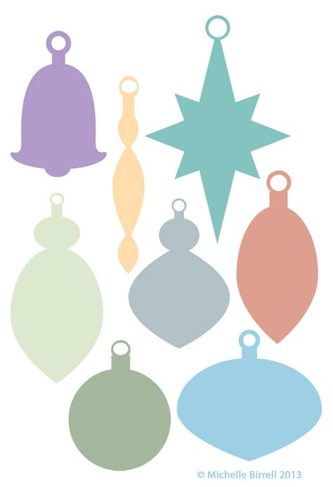 christmas ornament shapes to print shapes shelbi designs