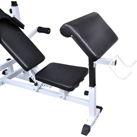 image 3 4 weight bench home gym equipment steel weight bench in black buy