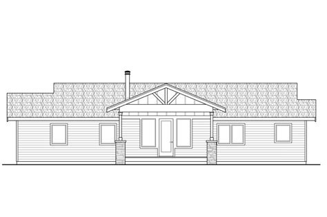 bungalow floor plan with elevation prairie style house plans lakeville 30 998 associated