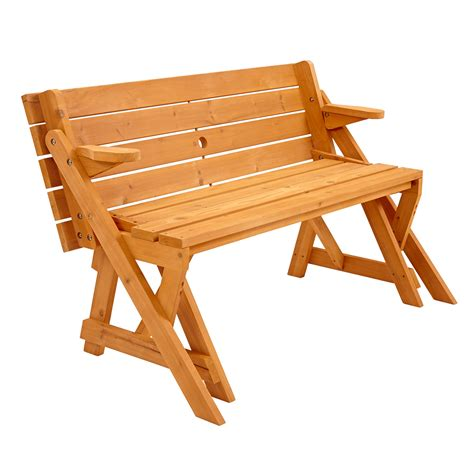 picnic table to bench trueshopping modbury two in one convertible garden bench