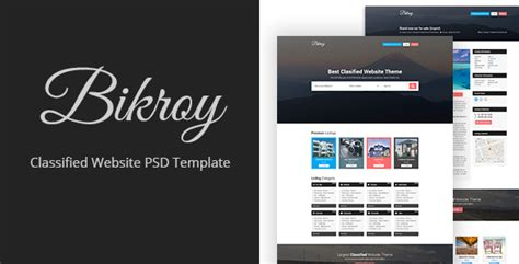 Bikroy Classified Directory Listing Website Psd Template By Themeix Classified Website Template