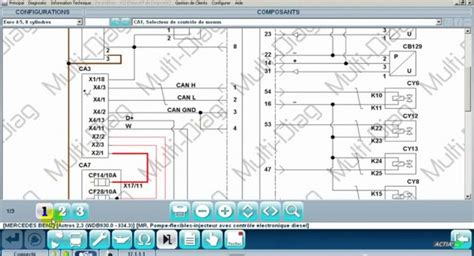 read vehicle wiring diagrams with multi diag j2534 pass