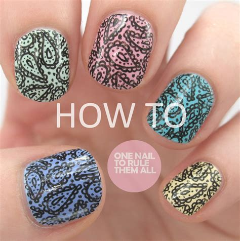 paisley pattern nails one nail to rule them all paisley print tutorial