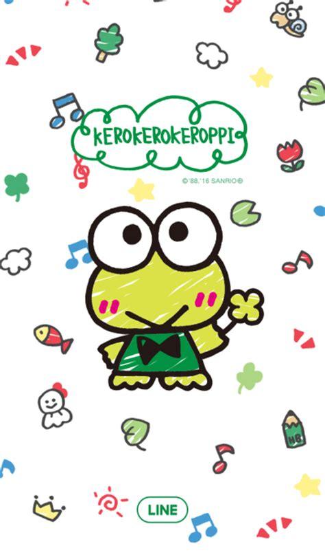 themes line keroppi line official themes illustrated kerokerokeroppi