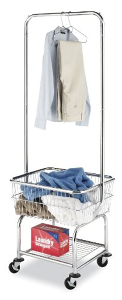 whitmor commercial rolling laundry butler wire