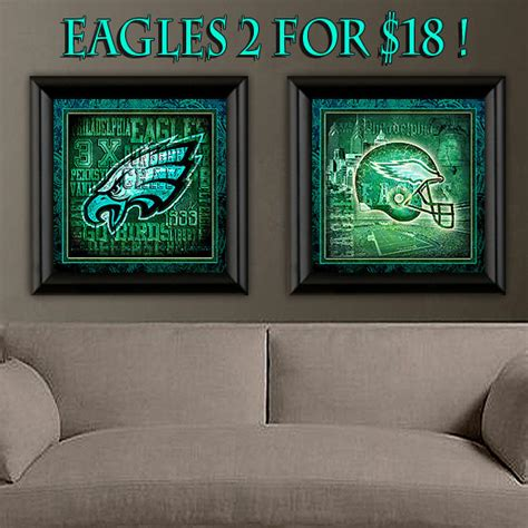 gifts for eagles fans philadelphia eagles art prints 2 set for only by