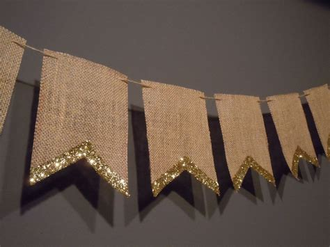 Wedding Banner Burlap burlap pennant banner for wedding or decoration with