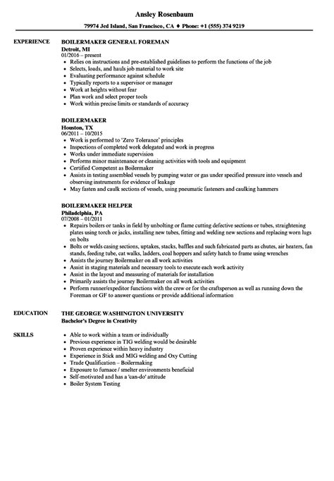 furnace operator sle resume business system analyst