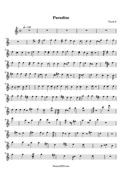 sheet music paradise paradise sheet music paradise score hamienet com