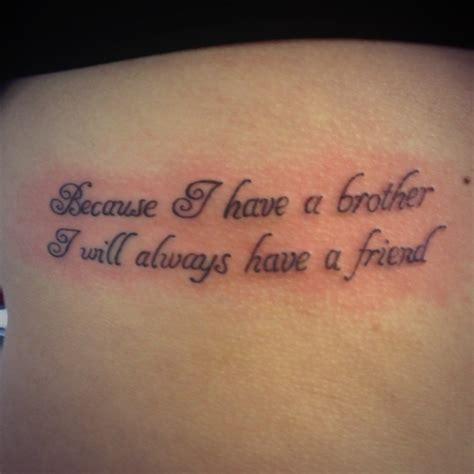 brother tattoo quotes because i a i will always a friend