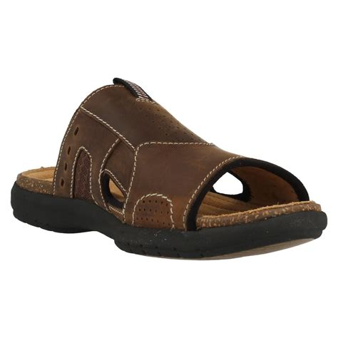 mule type sandals mens clarks classic leather mule style sandals unbryman