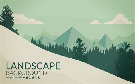 Landscape Illustration Mountain With Snow Landscape Illustration Vector