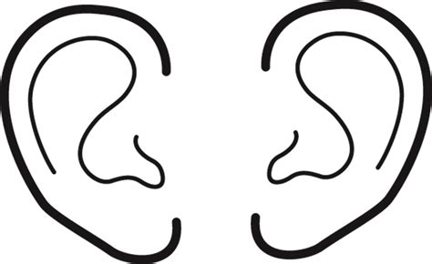 printable ear images pin left ear colouring pages on pinterest