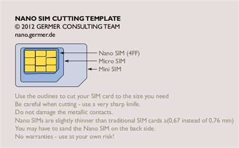 Micro Sim Card To Nano Sim Card Template