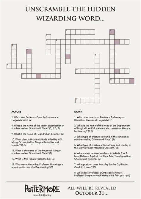 preguntas y respuestas de harry potter y la piedra filosofal pottermore anuncia en un crucigrama otro nuevo texto de