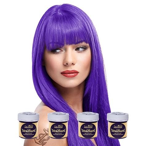 directions violet semi permanent hair dye la riche 4 la riche directions violet semi permanent colour kit hair