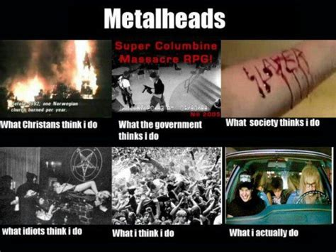 Funny Metal Memes - metalheads what people think i do hilarious stuff