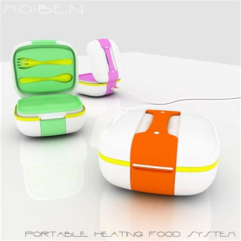 Moben Kitchen Designs by Mo Ben Is A Portable Food Container That Can Heat Up Your