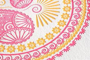 indian design indian pattern letterpress wedding invitations