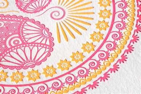 Wedding Card Design Patterns by Indian Pattern Letterpress Wedding Invitations