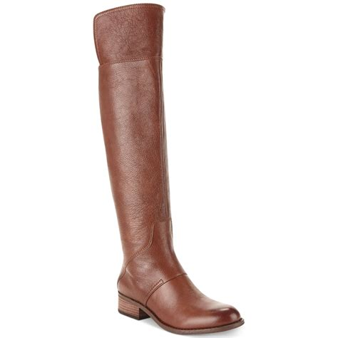 nine west boots in brown whiskey leather lyst