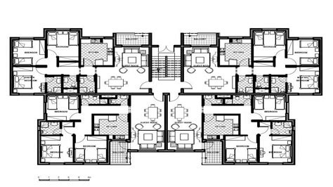 apartment unit floor plans unit apartment building plans design building plans