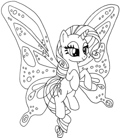 My Little Pony Bookmarks To Colour