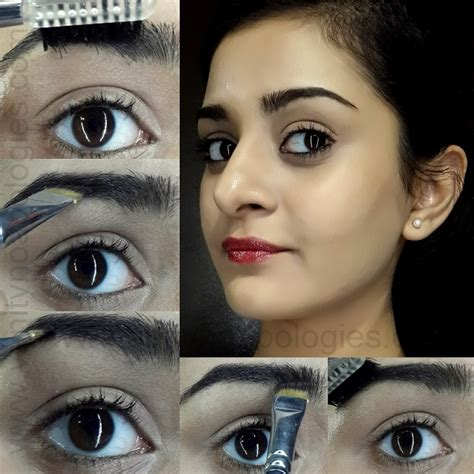 dark eyebrow trend tutorial how to fill in dark eyebrows without eyeshadow