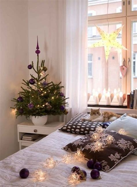 small christmas tree bedroom